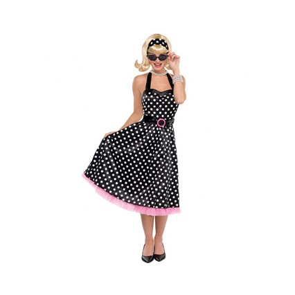 Women Costumes 1950s Womens Costume Twist and Shout Dress for Carnival Party