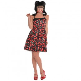 Women Costumes 1950s Womens Costume Rockabilly Dress for Carnival Party