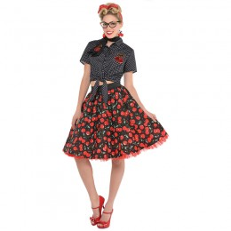 Women Costumes 1950s Womens Costume Rockabilly Skirt for Carnival Party