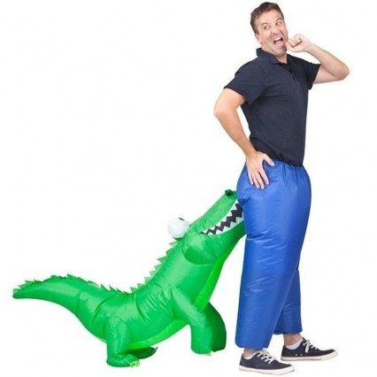 Inflatable Costumes Wholesale Crocodile Safari Inflatable Man Costume for Party