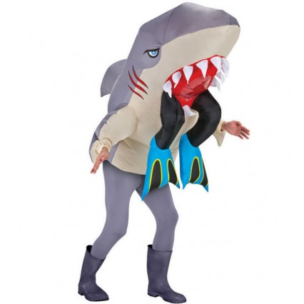 Inflatable Costumes Wholesale Man Eating Shark Halloween Inflatable Costumes for Party