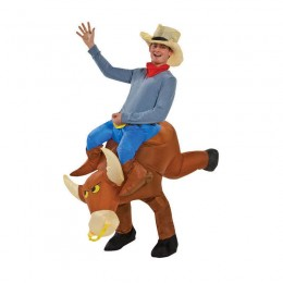 Inflatable Costumes Wholesale Bull Rider Inflatable Cowboy Costume for Party