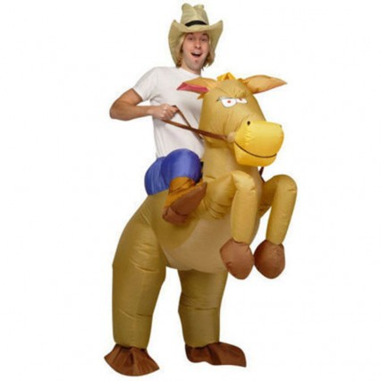 Inflatable Costumes Wholesale Riding on Horse Costumes Adult Inflatable for Party