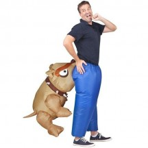 Inflatable Costumes Wholesale Man Eating Bull Dog Adult Inflatable Costumes for Party