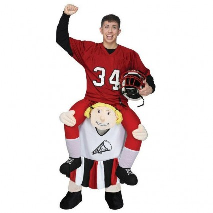 Ride On Costumes Wholesale Adult Ride a Cheerleader Costume Carry Me Mascot Fancy Dress for Party