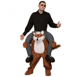 Ride On Costumes Wholesale Adult Ride a Fox Costume Carry Me Mascot Fancy Dress for Party