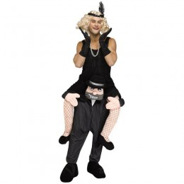 Ride On Costumes Wholesale Adult Ride a Gangster Costume Carry Me Mascot Fancy Dress for Party