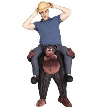 Ride On Costumes Wholesale Ride a Gorilla Adult Costume Carry Me Mascot Fancy Dress for Party
