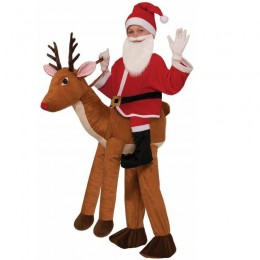 Ride On Costumes Wholesale Ride a Reindeer Child Costume Carry Me Mascot Fancy Dress for Party
