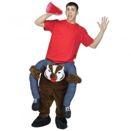 Ride On Costumes Wholesale Adult Ride a Badger Costumes Carry Me Mascot Fancy Dress for Party