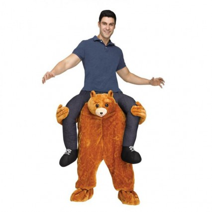 Ride On Costumes Wholesale Bear Carrying Man Costume Carry Me Mascot Fancy Dress for Party