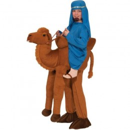 Ride On Costumes Wholesale Brown Boys Ride On Camel Costume Carry Me Mascot Fancy Dress for Party
