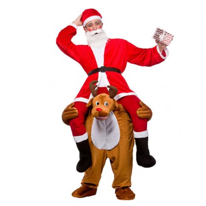 Ride On Costumes Wholesale Christmas Ride On Deer Adult Animal Costumes Carry Me Mascot Fancy Dress for Party