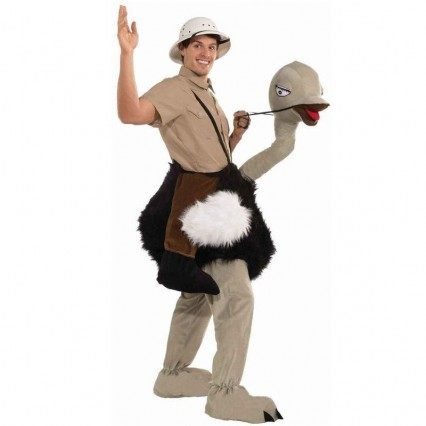 Ride On Costumes Wholesale Ride an Ostrich Adult Costumes Carry Me Mascot Fancy Dress for Party