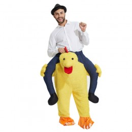 Ride On Costumes Wholesale Riding Chicken Costume Carry Me Mascot Fancy Dress for Party