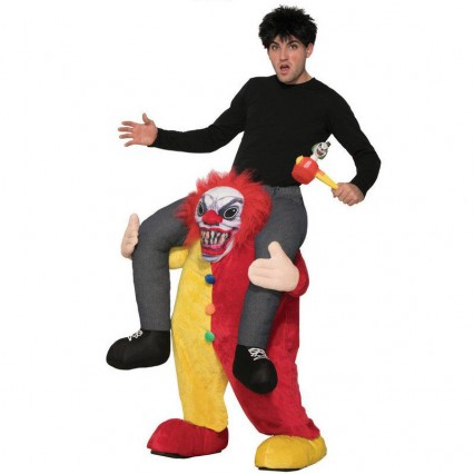 Ride On Costumes Wholesale Adult Ride a Clown Costume Carry Me Mascot Fancy Dress for Party