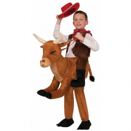 Ride On Costumes Wholesale Ride a Bull Child Costume Carry Me Mascot Fancy Dress for Party