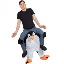 Ride On Costumes Wholesale Ride On Penguin Costume Carry Me Mascot Fancy Dress for Party