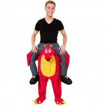 Ride On Costumes Wholesale Ride On Red Dragon Costume Carry Me Mascot Fancy Dress for Party
