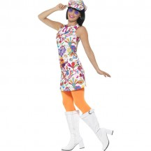 1960s Costumes Wholesale 60s Groovy Chick Womens Costume from China Manufacturer Directly