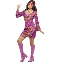 1960s Costumes Wholesale Woodstock Hippie Chick Womens Costume from China Manufacturer Directly