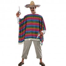 Mexican Costumes Wholesale Mexican Serape Adult Costume from China Manufacturer Directly