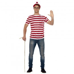 Where's Wally Costumes Wholesale Where is Wally Instant Kit Adult Costume from China Manufacturer Directly