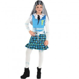 Monster High Costumes Wholesale Girls Frankie Stein Costume from China Manufacturer Directly