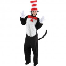 Dr Seuss Costumes Wholesale Adult Deluxe Dr Seuss Cat In The Hat Costume from China Manufacturer Directly