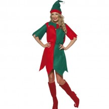 Christmas Costumes Wholesale Santa's Helper Elf Christmas Womens Costume from China Manufacturer Directly