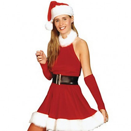 Christmas Costumes Wholesale Sexy Christmas Costumes Classy Miss Santa Clause Womens Costume from China Manufacturer Directly