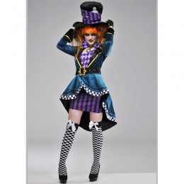 Disney Costumes Storybook Costume Wholesale Mad Hatter Party Mad Hatter Womens Costume from China Manufacturer Directly