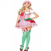 Disney Costumes Storybook Costume Wholesale Strawberry Shortcake Pretty Strawberry Womens Costume from China Manufacturer Directly