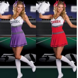 Occupation Costumes Wholesale Cheerleader Charming Cheerleader Sexy Womens Costume from China Manufacturer Directly