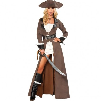 Pirates Costumes Wholesale Beautiful Buccaneer Captain Costume from China Manufacturer Directly