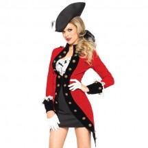 Pirates Costumes Wholesale Sexy Red Coat Costume from China Manufacturer Directly