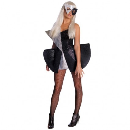 Other Costumes Wholesale Lady Gaga Lady Gaga Black Sequins Womens Costume from China Manufacturer Directly