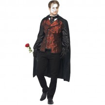 Other Costumes Wholesale Masquerade Dark Opera Masquerade Mens Costume from China Manufacturer Directly