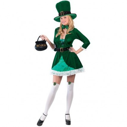 Events Occasions Costumes Wholesale St Patricks Luscious Leprechaun St Patrick's Womens Costume Wholesale from China Manufacturer Directly