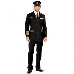 Events Occasions Costumes Wholesale In The Sky Black Pilot Captain Mens Costume Wholesale from China Manufacturer Directly