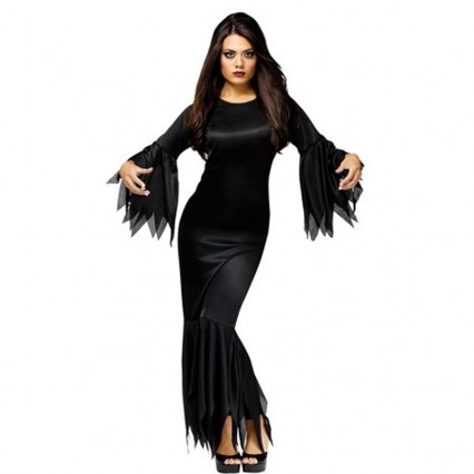 Halloween Scary Costumes Wholesale Addams Family Madam Morticia Womens Costume Wholesale from China Manufacturer Directly