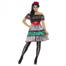 Halloween Scary Costumes Wholesale Day of the Dead Senorita Doll Womens Costume Wholesale from China Manufacturer Directly