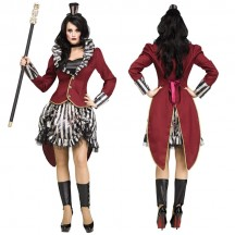 Halloween Scary Costumes Wholesale Freak Show Ringmistress Womens Costume Wholesale from China Manufacturer Directly