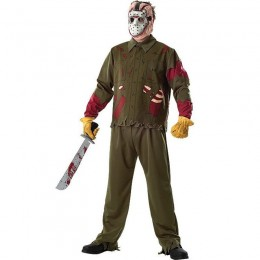Halloween Scary Costumes Wholesale Friday the 13th Jason Deluxe Mens Costume Wholesale from China Manufacturer Directly