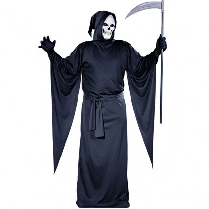 Halloween Scary Costumes Wholesale Ghost and Reapers Black Reaper Robe Halloween Mens Costume Wholesale from China Manufacturer Directly
