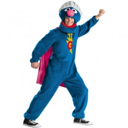 Movies,Music TV Costumes Wholesale Sesame Street Super Grover Mens Costume Wholesale from China Manufacturer Directly