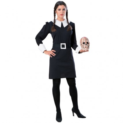 Movies Music TV Costumes Wholesale Addams Family Wednesday Womens Dress Costume from China Manufacturer Directly