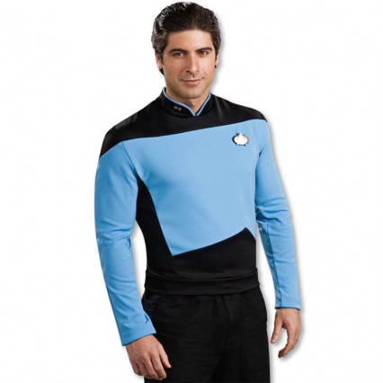 Movies Music TV Costumes Wholesale Star Trek Next Generation Spock Blue Shirt Deluxe Mens Costume from China Manufacturer Directly