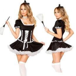 Occupation Costumes Wholesale Mischievous Maid Costume from China Manufacturer Directly