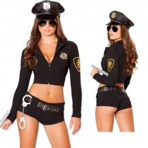 Occupation Costumes Wholesale Police and Military Police Hottie Costume from China Manufacturer Directly
